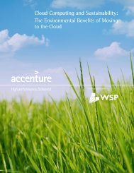Cloud Computing and Sustainability: The Environmental ... - Accenture