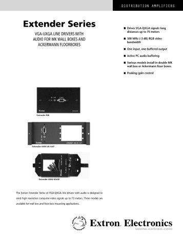 Extender Series - Extron Electronics