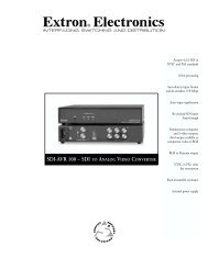 SDI-AVR 100 - Extron Electronics