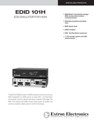 EDID 101H - Extron Electronics