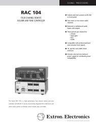 RAC 104 - Extron Electronics