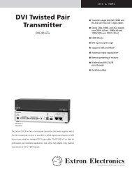 DVI Twisted Pair Transmitter - Extron Electronics