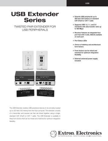 USB Extender Series - Extron Electronics
