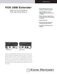 FOX USB Extender Brochure - Extron Electronics