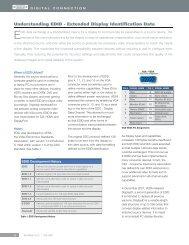 Understanding EDID - Extended Display ... - Extron Electronics