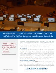 Download the story - PDF - Extron Electronics