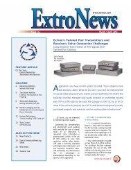 March/April 2001 - Extron Electronics