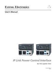 Ethernet Configuration and Control, cont'd - Extron Electronics