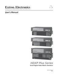 HDXP Plus Series.indb - Extron Electronics