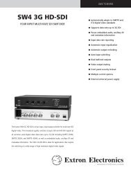 SW4 3G HD-SDI - Extron Electronics