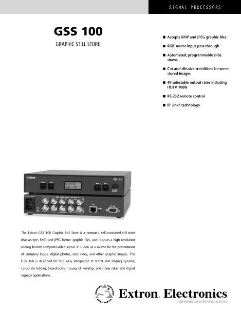 GSS 100 - Extron Electronics
