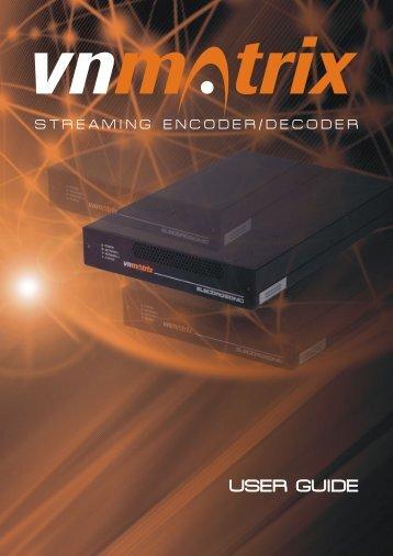 VN-MATRIX USER GUIDE First Draft - Extron Electronics