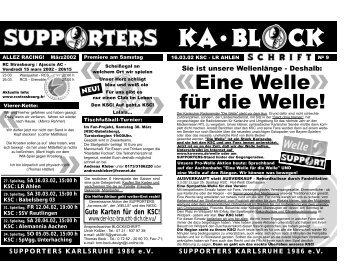 Blockschrift der Supporters Nr.09 Januar 2002 - exwelle.de - Die ...