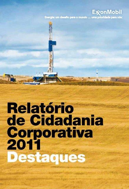 Relatório de Cidadania Corporativa 2011 Destaques - Esso