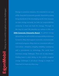 2004 Corporate Citizenship Report - ExxonMobil