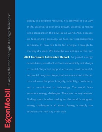 2004 Corporate Citizenship Report - ExxonMobil