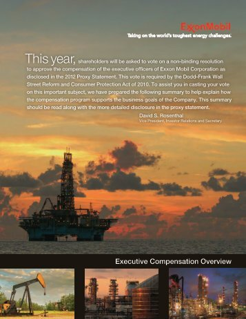 Executive Compensation Overview - ExxonMobil
