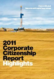 2011 Corporate Citizenship Report Highlights - ExxonMobil