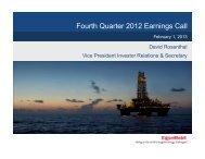 Fourth Quarter 2012 Earnings Call - ExxonMobil