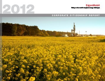 2012 CORPORATE CITIZENSHIP REPORT - ExxonMobil
