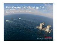 First Quarter 2013 Earnings Call - ExxonMobil