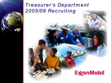 Recruiting Presentation 2005-06 Internet - ExxonMobil
