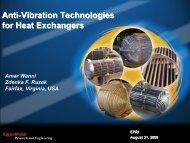 Anti-Vibration Technologies for Heat Exchangers - ExxonMobil