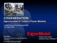 Cogeneration - ExxonMobil
