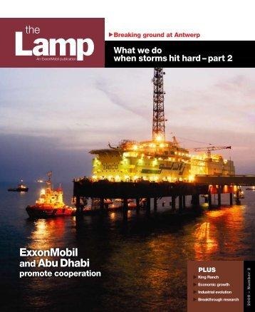 ExxonMobil and Abu Dhabi