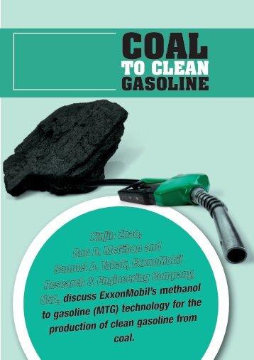 Coal to Clean Gasoline - ExxonMobil