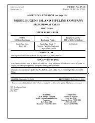 MOBIL EUGENE ISLAND PIPELINE COMPANY - ExxonMobil