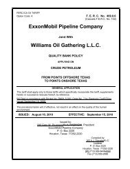 ExxonMobil Pipeline Company Williams Oil Gathering L.L.C.