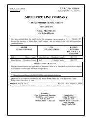 MOBIL PIPE LINE COMPANY - ExxonMobil