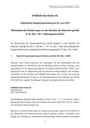 EYEMAXX Real Estate AG Ordentliche Hauptversammlung am 29 ...