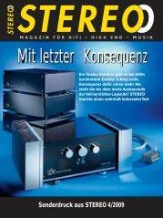 Sonderdruck aus STEREO 4/2009 - ASR Audio Systeme Friedrich ...