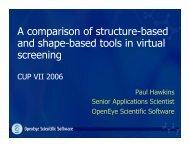 ROCS - OpenEye Scientific Software