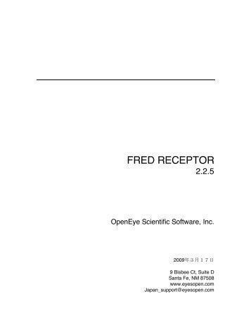 FRED RECEPTOR - OpenEye Scientific Software