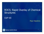 ROCS: Rapid Overlay of Chemical Structures