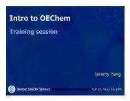 Intro to OEChem