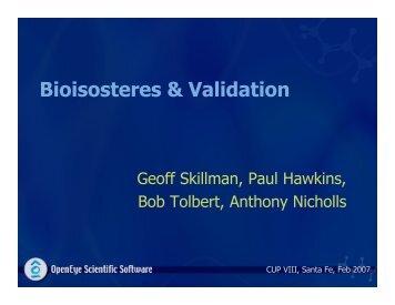 Bioisosteres & Validation