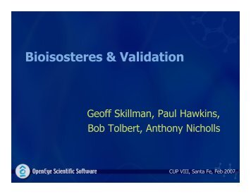 Bioisosteres & Validation