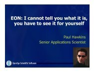 EON: I cannot tell you what it is, you have to see it for yourself