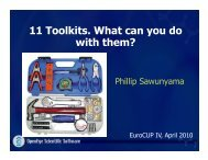 11 Toolkits. What can you do with them?