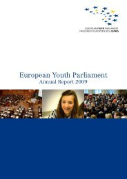 Annual Report 2009 - European Youth Parliament
