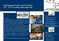 12th Regional Session of EYP Poland 18 – 22 November 2009 ...