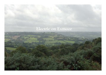 Electric on Exmoor - eZee electric bikes