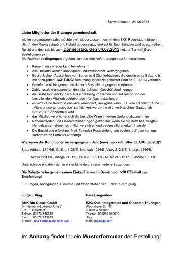 Sammelantrag 2013 Anlage B Anschreiben Und Formular