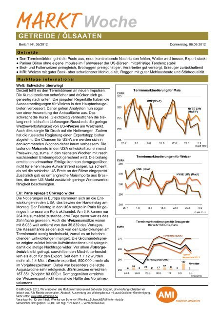 Markt Woche Getreide Nr. 36/2012 - EZG Qualitätsgetreide und ...