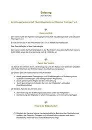 Satzung - EZG Qualitätsgetreide und Ölsaaten Thüringen w.V.