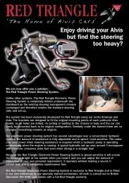 Enjoy driving your Alvis but find the steering too heavy? - EZ Power ...